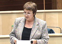 Cathie Craigie introduces the debate in the main chamber of the Scottish Parliament